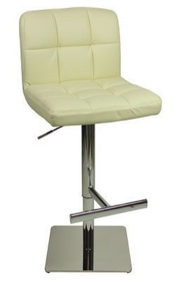 Allegro Deluxe  Leather Bar Stool Square Base