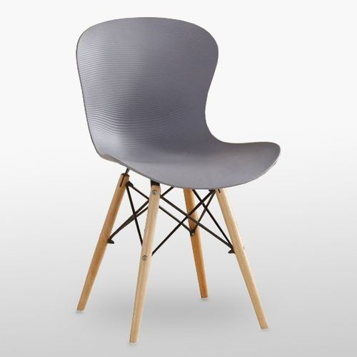 DS Ribbed Eiffel Chair Grey