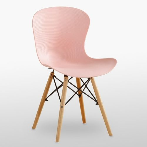 DS Ribbed Eiffel Chair Pink