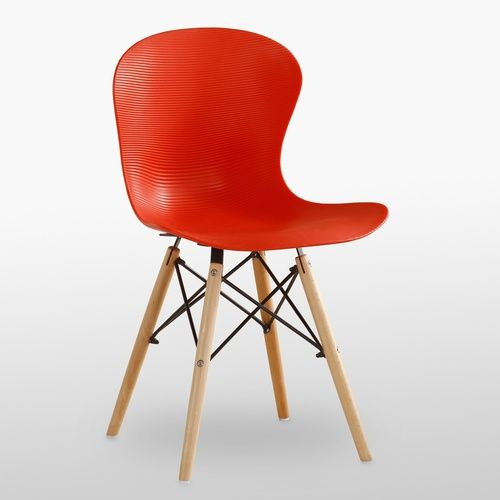 DS Ribbed Eiffel Chair Red