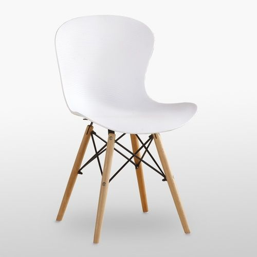 DS Ribbed Eiffel Chair White