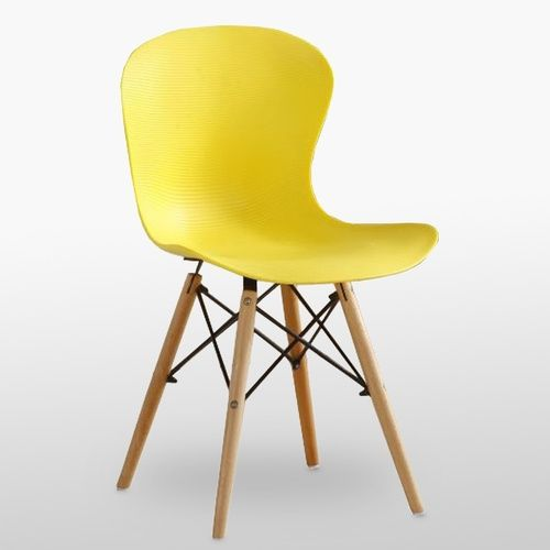 DS Ribbed Eiffel Chair Yellow
