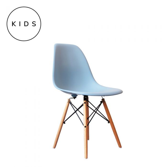 Eames Style DSW Side Chair - Blue