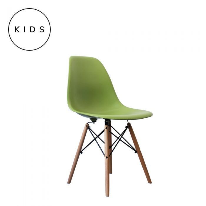 Eames Style DSW Side Chair - Green