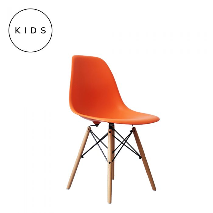 Eames Style DSW Side Chair - Orange