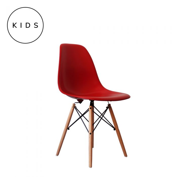 Eames Style DSW Side Chair - Red