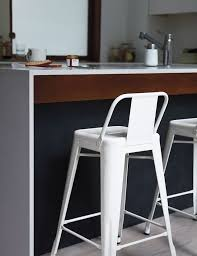 Tolix Bar Stool with Backrest