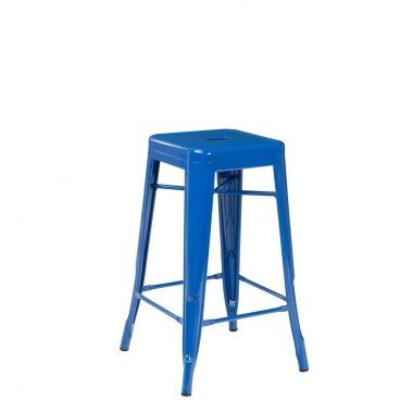 Tolix Counter Stool 66cm Blue.