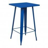 Tolix High Table Coloured Top Deep Lapis Blue