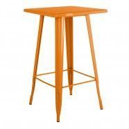 Tolix High Table Coloured Top Orange Saffron