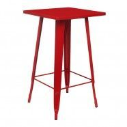 Tolix High Table Coloured Top Red